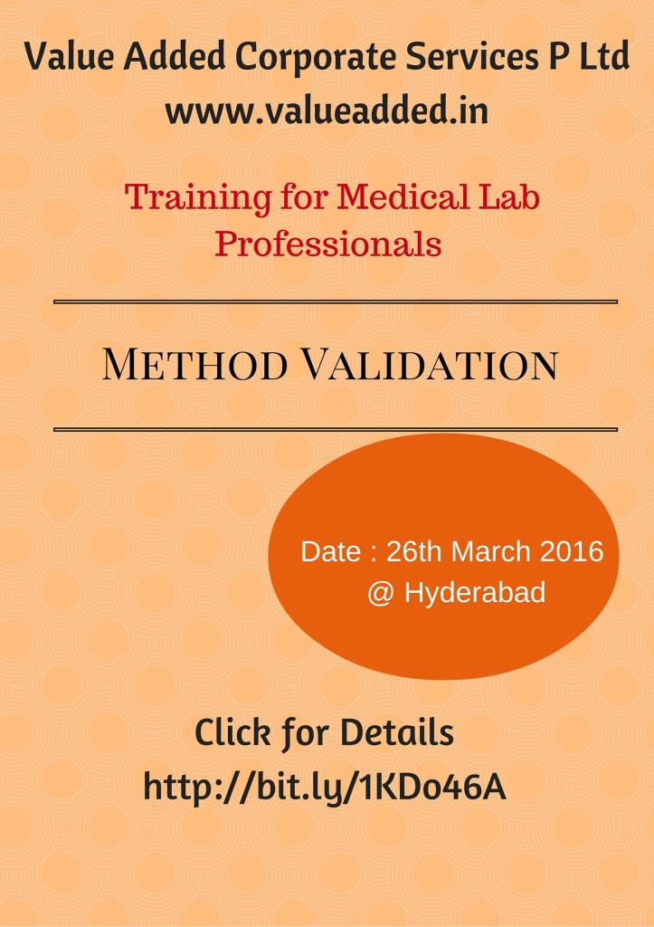 Method Validation Training Poster
