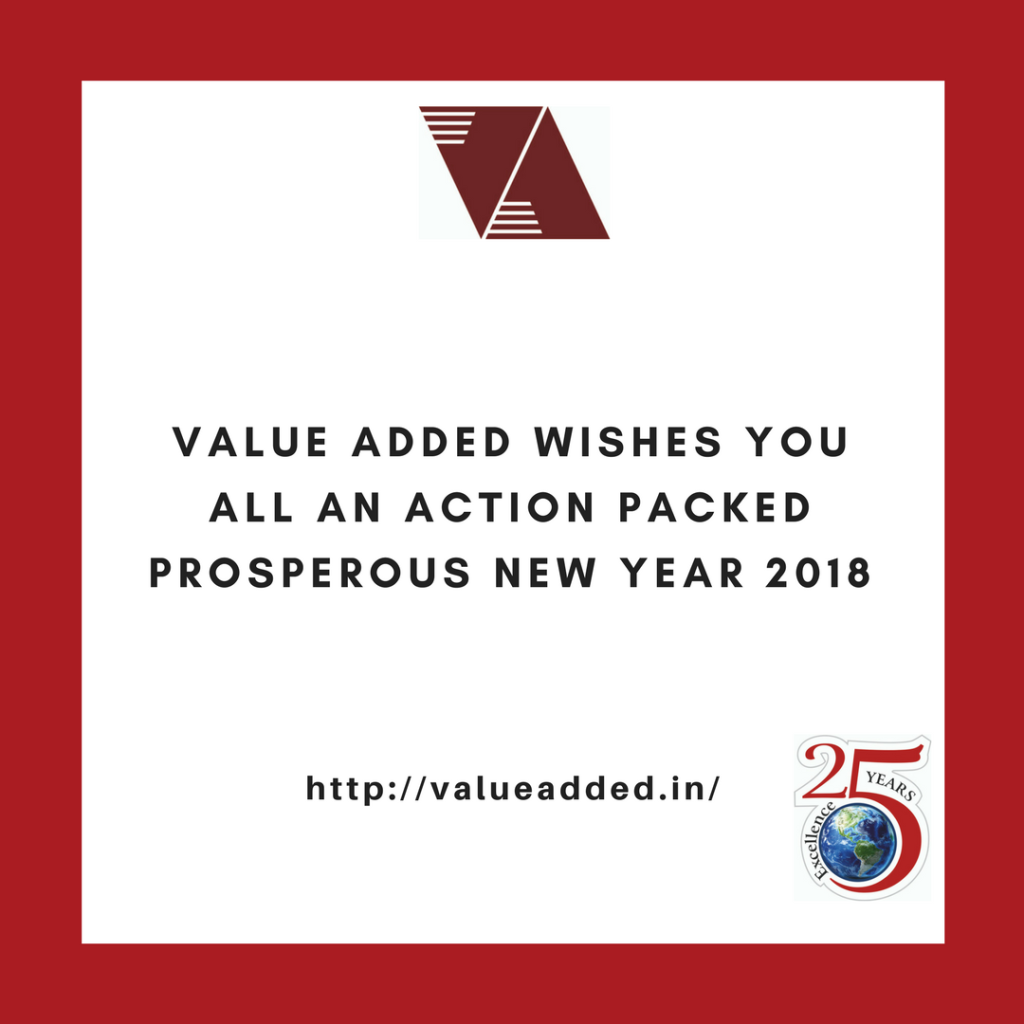 value added wishes you all a happy new year 2018